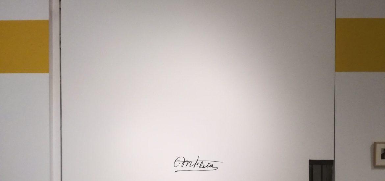 Firma en la exposición de Miguel Fleta