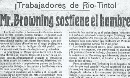La olvidada Cuenca Minera de Riotinto. Movimiento obrero durante el dominio británico. Régimen de la Restauración.