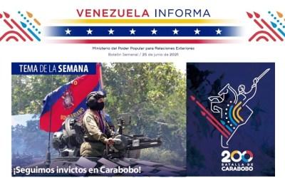 Venezuela Informa 14 – 25 de junio de 2021