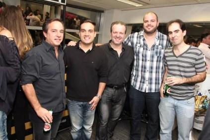 Dado Nascimento, Gabriel Fuschini, Didi Lopes, Caio Gobbini e Paulo Fuschini