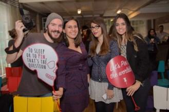 Time gCampaner: O film maker Marcelo Morgan, a gerente de conteúdo Mariana Queiroz, a designer Bianca Guerra e a produtora de conteúdo Marina Aly.