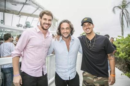 Bruninho, André Sada e Gabriel Medina