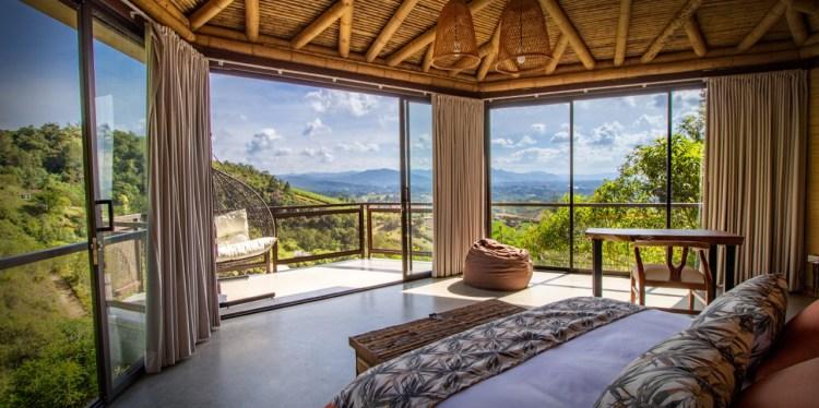 Vista desde la habitación de Cannúa - sostenibilidad