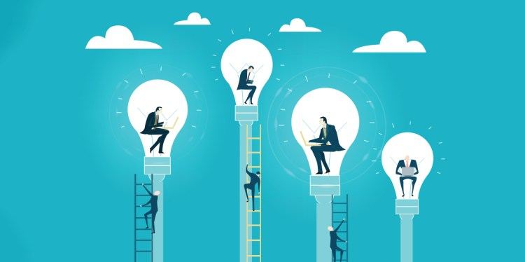 concepto de empresario con ideas - invertir