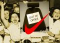 Empleados celebran días fuera de la oficina; logo de Nike en rojo