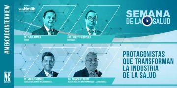Expositores de la Semana de la Salud: Dr. Pablo Mateo, Arq. Herly Valenzuela, Dr. Mauricio Morel y Alonso Verdugo