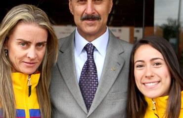 Jorge O. González, Mariana Pajón y María Luisa Calle
