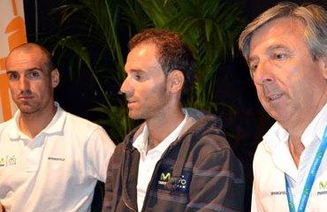 Cobo, Valverde y Unzué en rueda de prensa