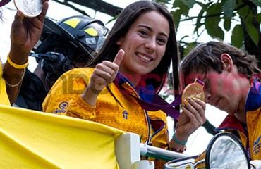 Los medallistas antioqueños paralizaron a Medellín