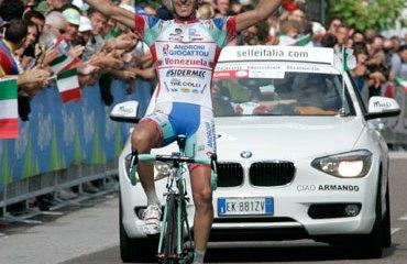Franco Pellizotti, campeón italiano de Ruta