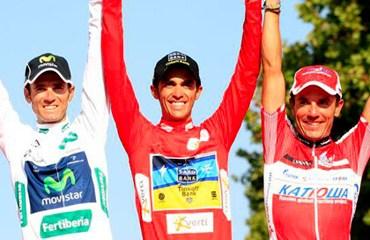 Podio de la pasada Vuelta a España