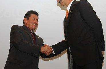 Hernando Zuluaga junto a Jorge Ovidio González