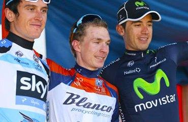 Podio final del Tour Down Under 2013