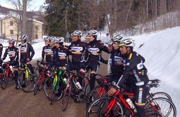 El Team Colombia entrenando en el Garda Trentino