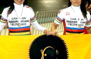 Juliana Gaviria y Martha Bayona ganaron la Velocidad por Equipos Damas (@Femeci)