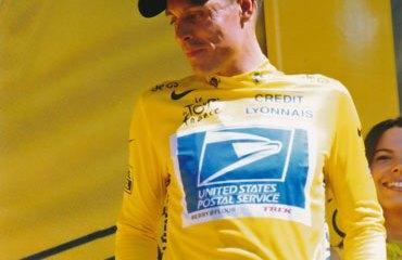 Peña con la camiseta amarilla del Tour de Francia 2003