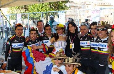 El Colombia Team en la Roma Máxima