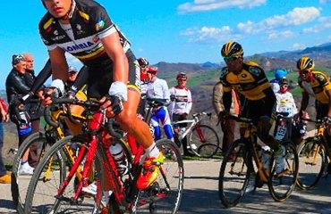 Leonardo Duque en plena acción de la competencia