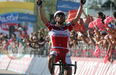 Luca Paolini y su victoria en la 3ª etapa del Giro de Italia