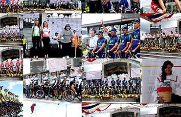 Las 18 escuadras desfilaron por el Palacio de Cristal en Quito, Ecuador