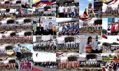 Las 18 escuadras desfilaron por el espectacular escenario natural del Palacio de Cristal en Quito, Ecuador