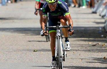 Montaña no podía irse de la Vuelta sin visitar el podio