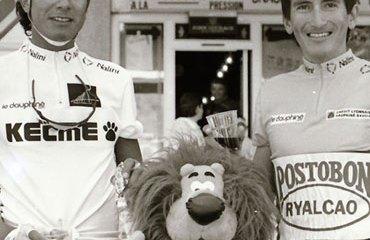 Lucho Herrera y Oliverio Rincón en el Dauphiné de 1991