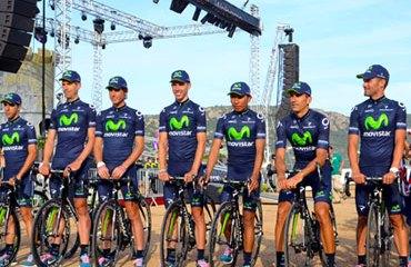 El Movistar Team de Nairo Quintana y Alejandro Valverde