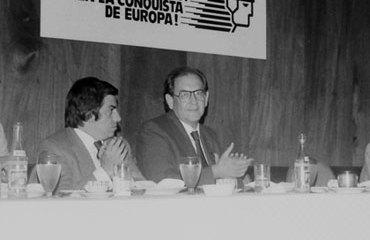 Saulo Barrera junto a Julio Nieto Bernal en 1983