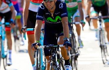 Mala suerte para Valverde este jueves en el Tour