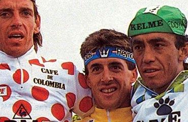 Fabio Parra en el podio de 1988