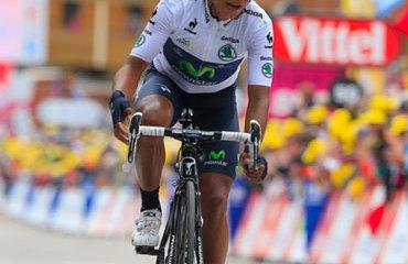 Quintana escaló en el Alpe d'Huez al 3º puesto de la general
