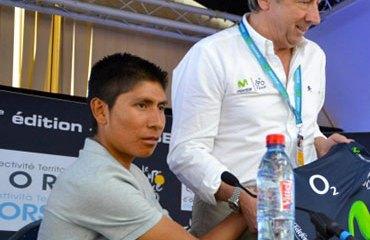 Unzué y Quintana en plena rueda de prensa del pasado Tour