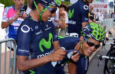 Nairo Quintana junto Andrey Amador