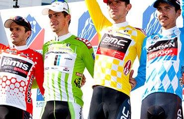 El podio final del USA Pro Cycling Challenge 2013