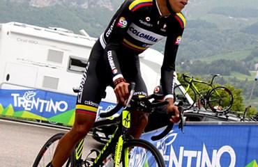 Jarlinson Pantano con el Team Colombia durante el Giro