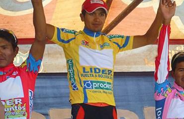 Moreno se montó al liderato de la ronda boliviana