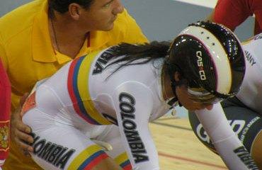 John Jaime González junto a su corredora Juliana Gaviria