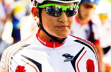 Sériká Gulumá la mejor colombiana en la prueba. Foto: Maximiliano Blanco/Shimano