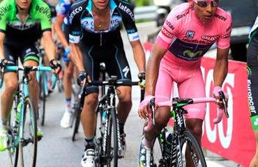 Un Movistar Team soberbio cubrió la espalda de Quintana en Refugio Panarotta