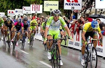 Colbrelli y su momento cumbre de triunfo en Eslovenia