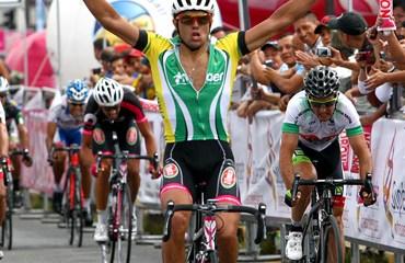 Andrea Pasqualon, de Italia, primer triunfo extranjero en la Vuelta a Colombia 2014.