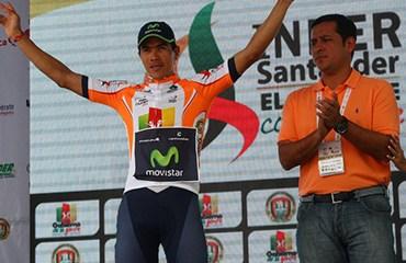 Angarita relevó a su compañero de escuadra Cristian Talero al frente de la general de los sprinters