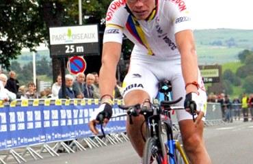 López fue el mejor ubicado del equipo nacional en la apertura del Tour del Avenir (Foto©FCC)