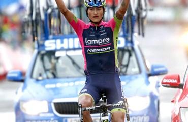 Doblete historico para colombia en la novena etapa de la ronda ibérica con etapa para Anacona y liderato para Quintana
