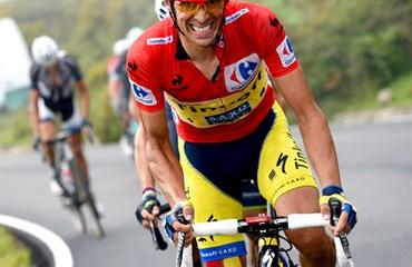 En La Farrapona, Alberto Contador obtuvo su primer triunfo parcial.