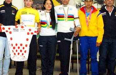 Los campeones mundiales y olímpicos junto a los vencedores del Tour del Avenir