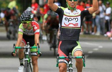 Jaime Castañeda dominó la prueba inicial de ruta, el critérium.