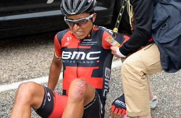 La temporada de Atapuma acabó con su caída en el Tour.