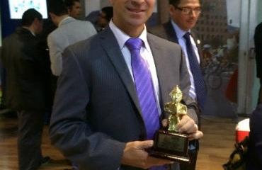Germán Medina obtuvo el premio como DT de 2014.